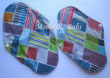 Pack of 2 Women's Reusable Menstrual Cloth Sanitary Pads Multi Grid Charcoal