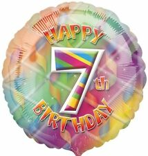 "Happy 7th Birthday Foil Balloon - Multi-Coloured 17"" {Anagram} (Helium/Party)"