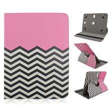 "LG G-Slate 4G 8"" inch Tablet Chevron Pink Adjustable Folio Case Cover"