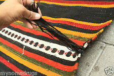 Antique 1920s Goat's Hair Tent Woven Turkish Nomad Flat Woven from Tauros Mnt