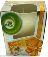 AirWick Festive Moments Fresh Snow & Sleigh Bells Scented Candle Christmas