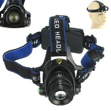 Zoomable Rechargeable 3000Lm T6 LED 18650 Headlamp Headlight Zoom Head Torch