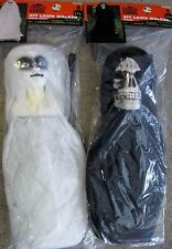 2 New Totally Ghoul 3ft Halloween Lawn Stake Walkers - 1 Reaper & 1 Creepy Ghost
