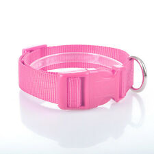 Adjustable Nylon Puppy Pet Cat Safety Collar Dog Necklace Soft Neck Strap 6Color