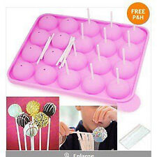 US Silicone Tray Pop Cake  Lollipop Mould Cupcake Baking Mold 20pic/set
