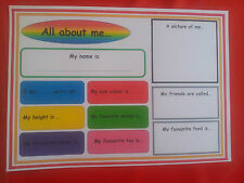 ALL ABOUT ME - INFORMATIONAL RESOURCE FOR CHILDREN TO FILL IN - STARTING SCHOOL