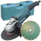Makita GA9020KD 240v 230mm 9inch angle grinder with case & diamond blade
