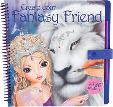 TOPModel Create Your Fantasy Friend Colouring Book by Depesche Brand New Design
