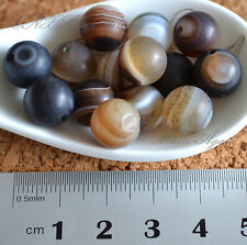 5 Beads of Natural Agate Matte Round Beads 10mm Gemstone Crystal DIY Rare