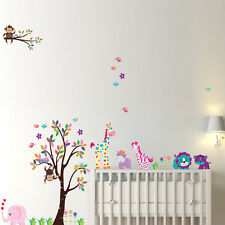 Monkey giraffe zoo lion II Wall Decor Decal Stickers Removable Nursery Kids Baby