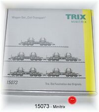 "Trix Minitrix 15073 Wagen-Set ""Coil-Transport"" der DB 5-teilig #NEU in OVP#"