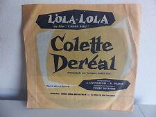 Disque souple Bo Film L ange bleu Lola Lola COLETTE DEREAL Orch MARIO BUA