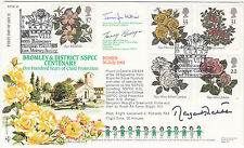 Rare RFDC95c Full Set of 5 Roses Stamps Signed Margaret Thatcher Prime Minister