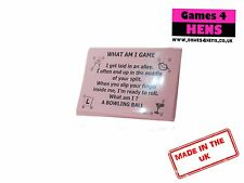 What Am I Pink Cards Games Hen Do Party Bride To Be Night Out Ice Breaker 20 Pcs