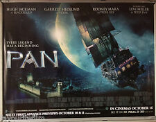 Cinema Poster: PAN 2015 (Ship Quad) Hugh Jackman Garrett Hedlund Rooney Mara