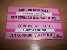 "2 Christina Aguilera Come On Over Baby Jukebox Title Strip CD 7"" 45RPM Records"