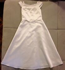 Jenny Annie Dots Girl Special Occasion White Long Dress Sz 12 Princess Halloween