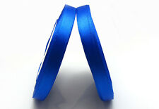 "Free shipping 3/8"" 25Yards Solid color Satin Ribbon  Wedding Party Dark Blue"