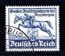 Deutsches Reich 1940 Blaues Band Francobollo Usato 25+100 Pf (746) EUR00577