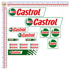 CASTROL sticker 14 Pz. adesivi auto moto casco decal helmet
