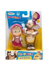 Set of 2 toys for bath Masha and the Bear /Masha i Medved - new