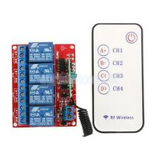 12V 4 Channel 4CH RF Wireless Remote Controll Switch Relay Module 433MHz