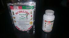 1 Nopalina Flax Seed Plus 120 capsules + Bolsa de 4 Oz gratis