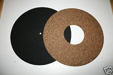 OscarsAudio Cork/rubber & Neoprene Turntable  Mat *twin mat **BEST VALUE**