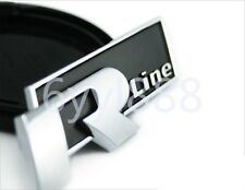 BLACK CAR TRUNK METAL RLINE R-LINE EMBLEM BADGE STICKER FOR VW CC GTI PASSAT
