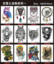12 pcs Temporary Tattoos Tattoo Stickers Waterproof Animal Arm Fake Transfer