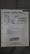 sharp jc-180 x service manual original repair book stereo walkman radio tape
