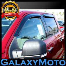 15-16 Ford F150 Crew Cab Smoke 4 Door Window Deflector Visor Rain Sun Guard