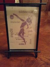Girl's Volleyball Inspirational Phrase Stand with Black Wire Frame
