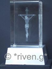 Cristallo Laser Blocchi & L.E.D. Display Gesù stand@3d crucifixion@paper weight@lit