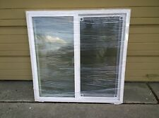 "DISPLAY UNIT:  Pella White Vinyl Semi-SLIDER Home WINDOW  (36.5"" W x 36"" H)"