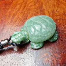 Turtle Necklace - Aventurine Gemstone Carved Pendant (C4B) Raw Polished Natural