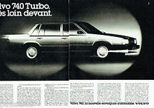 PUBLICITE ADVERTISING 076  1984  Volvo  la 740   turbo ( 2 pages)