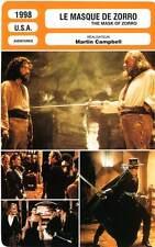 FICHE CINEMA : LE MASQUE DE ZORRO Banderas,Hopkins,Zeta-Jones 1998 Mask Of Zorro