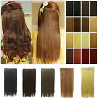 Synthetic Clip in Hair Extensions curly wavy straight real good as human hair