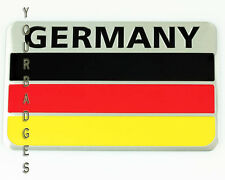 Brushed Aluminium Metal Germany Flag Car badge German Deutschland VW