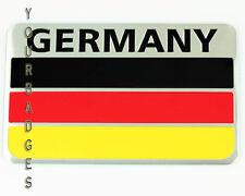Aluminium brossé métal allemagne drapeau voiture insigne allemand deutschland vw