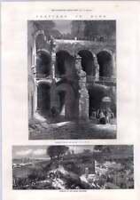 1872 della sottostruttura del Palazzo del Caesar's CATACOMBE Ebraiche di Roma