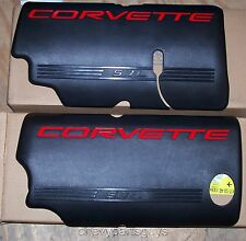99-2004 CORVETTE BLACK FUEL RAIL COVERS FOR 5.7L LS1 ENGINE OEM GM