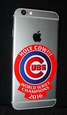2016 World Series Champions Chicago Cubs Holy Cow Vinyl Decal Cell I-Phone
