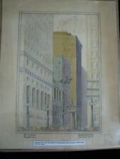 Listed Artist Illustrator Francis Kirn Pencil Drawing 1930's Merchandise Mart