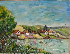 Peinture P J Sarazin Champigny les Langres Lac de Charmes