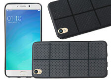 Jkobi Square Designed Dotted Rubberised Back Case Cover For Oppo F1 Plus - Black