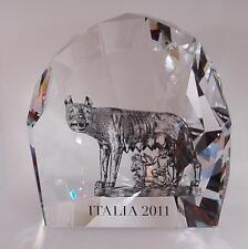 Swarovski crystal ITALIA 2011 LA LUPA 1145684 WOLF NUM. LIMITED EDITION nuovo