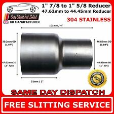 48mm to 45mm Stainless Steel Standard Exhaust Reducer Connector Pipe Tube