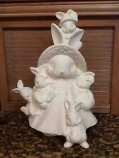 "Ceramic Bisque Mama Easter Bunny 17"" Tall ready to paint"